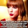 Taylor et Selena à propos de leur grande amitié... GIFS