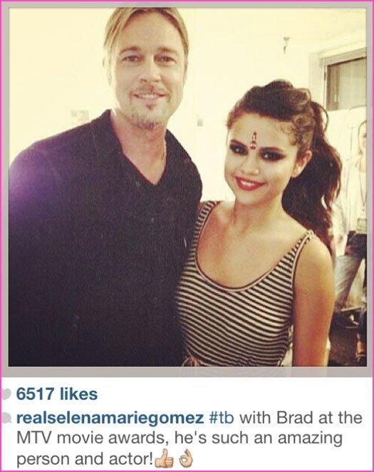 Brad fan de Selna Gomez ? ^^
