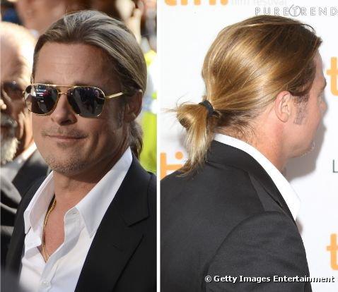 Brad Pitt : faut-il tolerer la queue de cheval sur les hommes ?