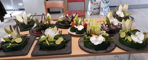 Atelier Cap bonne humeur Atelier du 01/03/2018 Quand les fleurs rencontrent les légumes