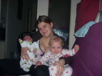 moi ma fille lindsay et mon fils enzo
