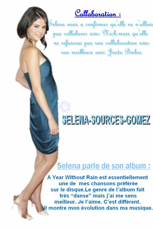 Collaboration et Selena parle de son album !