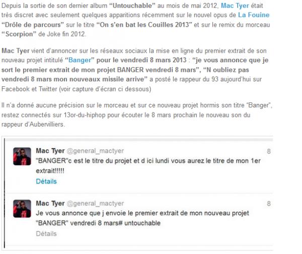 mac tyer annonce le 1er extrait de son projet banger (NEWS)