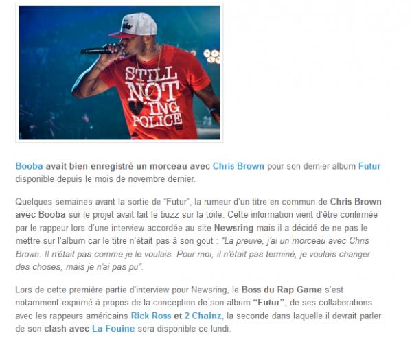 Booba avait enregistré un titre avec Chris Brown sur Futur (NEWS)