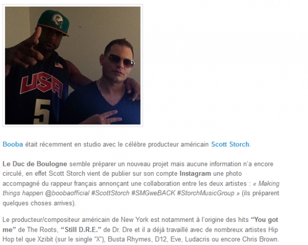 Booba en studio avec le producteur Scott Storch (NEWS)