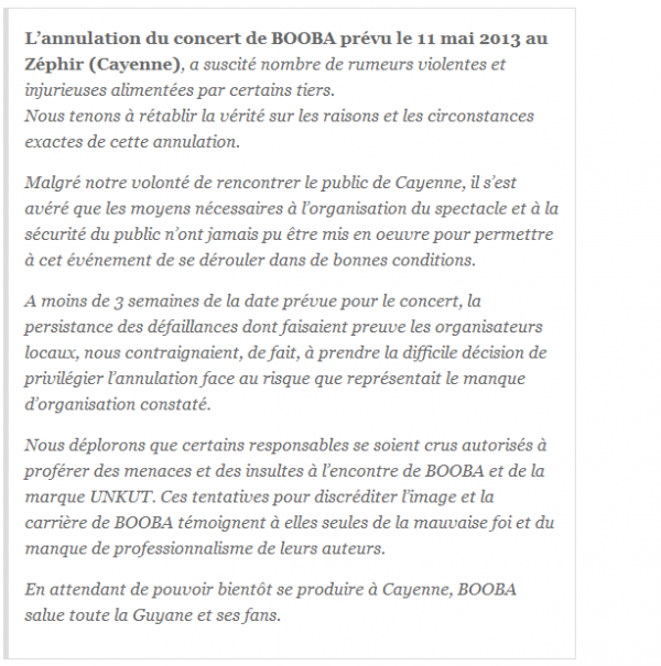 Booba s explique sur l annulation de son concert en Guyane (NEWS)