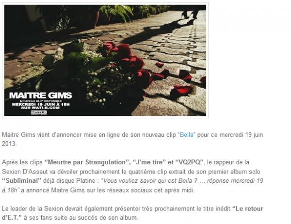 Bella, Maitre Gims annonce le clip pour le 19 juin (NEWS)