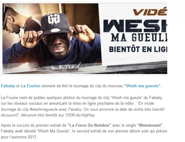 Fababy et La Fouine sur le tournage de Wesh ma gueule (NEWS)