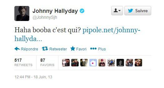 Johnny Hallyday s attaque à Booba sur Twitter (NEWS)