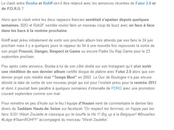 Booba vs Rohff, le clash de retour avec Futur 2.0 et PDRG  (NEWS)