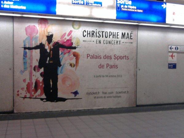 L'affiche de la tournée 2013 dans le métro !!!!!