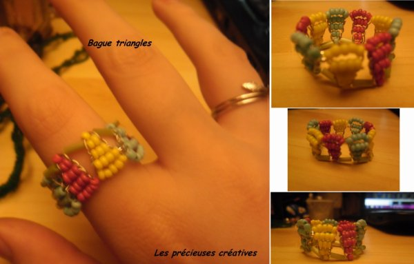 Bague triangles