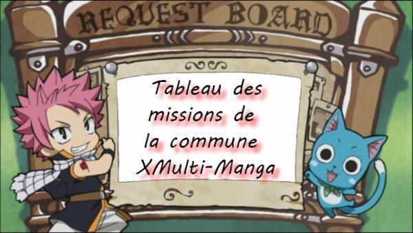 Tableau des missions