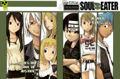 Death the Kid,Maka et Black Star,Tsubaki,Soul, Liz et Patty