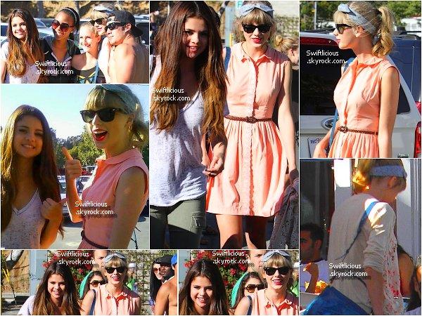 """♦ Out : 28 Juin 2012 , Taylor & Selena Gomez sont partis à Malibu en Californie déjeunés au """" Paradise Cove """"  Top ou Flop concernant la tenue de Tay' ? + Voici le clip officiel """" Both of Us """" Votre Avis ?"""
