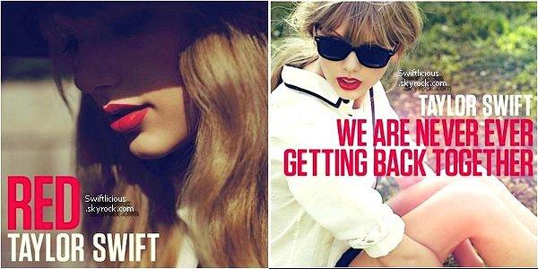 """♦ Music Le nouvel album de Taylor s'intitulera Red ! Le nom d'un des titre à était dévoilé il s'appellera """" Nous ne nous remettrons jamais .. jamais ensemble ♥ """" Il sortira le 22 Octobre,et sera composé de 16 titres !"""