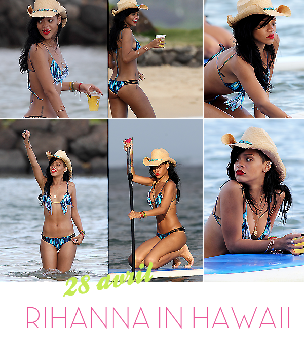 Rihanna à Hawaii