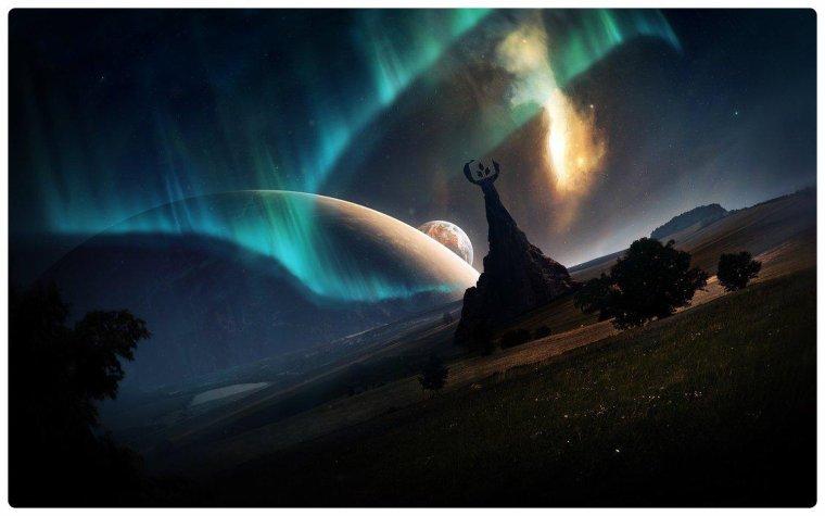 La vaste nuit allume toutes les étoiles.