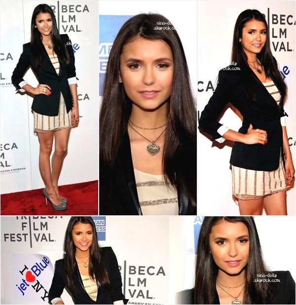 """. 26/04/11 : Nina était présente à la première du film """"Last Night"""" au Festival Tribeca du Film. Celui-ci se déroulait à New York. Ian était également présent mais aucune photos des """"amoureux"""" pour l'instant. ."""