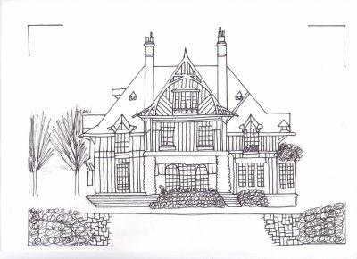 Maison de campagne qui me fait peur lili sawyer dessin - Dessin maison de campagne ...