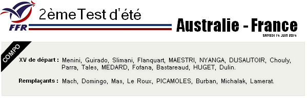 2ème match test - Australie - France