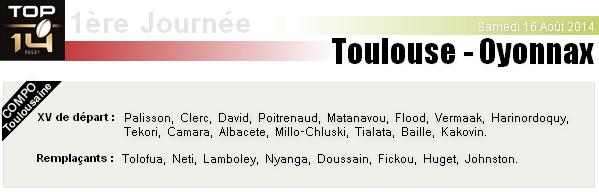 TOP 14 - 1ère Journée : Stade Toulousain - Oyonnax