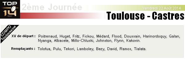 TOP 14 - 2ème Journée : Stade Toulousain - Castres
