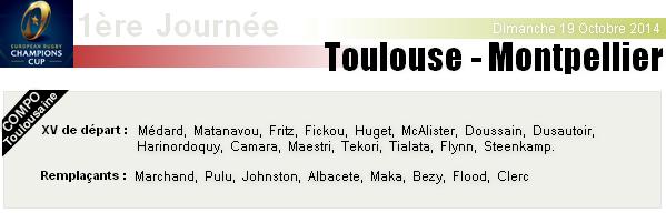 ERCC - 1ère Journée : Stade-Toulousain - Montpellier