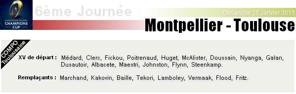 ERCC - 6ème Journée : Montpellier - Stade Toulousain
