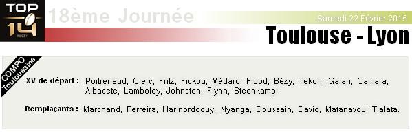 TOP 14 - 18ème Journée : Stade Toulousain - Lyon