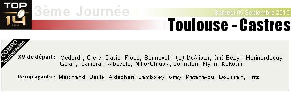 TOP 14 - 3ème Journée : Stade Toulousain - Castres