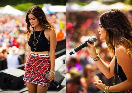 07-06-14 : Lucy Hale Birthday Bash 22nd Country Music Festival à Michigan