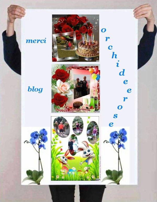 Blog - orchideerose vous méritez un grand MERCI pour c'est cadeaux . Je suis vraiment heureux d'avoir des amis tels que vous  . Je suis comblée ...