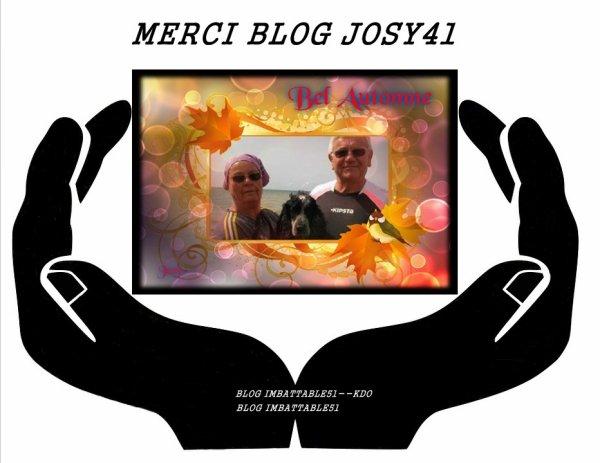 Blog - JOSY41  .. BLOG - VIOLETTE-DU-80 ... Vous méritez un grand MERCI pour c'est beau cadeau . Je suis vraiment heureux d'avoir des amis tels que vous . Je suis comblée