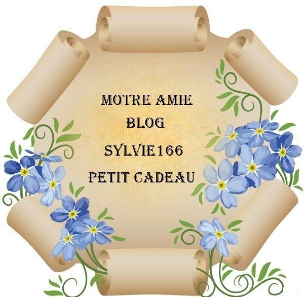 CADEAU PERSONNALISE ... POUR NOTRE FIDELE AMIES - BLOG SYLVIE166 .. POUR VOUS REMERCIEZ DE CE PARTAGE ET DE CETTE BELLE AMITIE QUE VOUS M'APPORTEZ ...