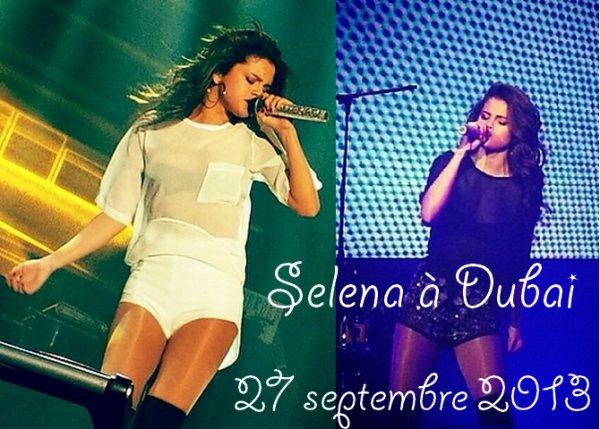 27 septembre 2013 : Selena à Dubai pour un nouveau concert !