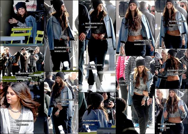 #1*11/03/14. Selena s'est rendue à New-York pour faire un shoot pour la collection Adidas Neo. Les paparazzis la bombarder de photo, donc il y en a pas mal + Sel' à poser avec des fans. Top ou Flop ?