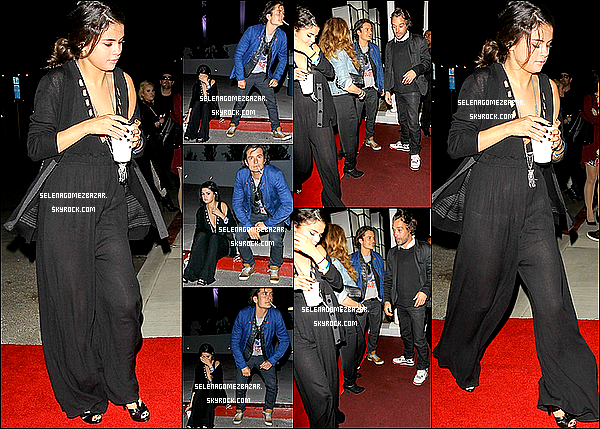 26/04/14. Selly arrivant au  Chelsea Handler's Live Show avec Orlando Bloom à Los Angeles. Top ou Flop ?
