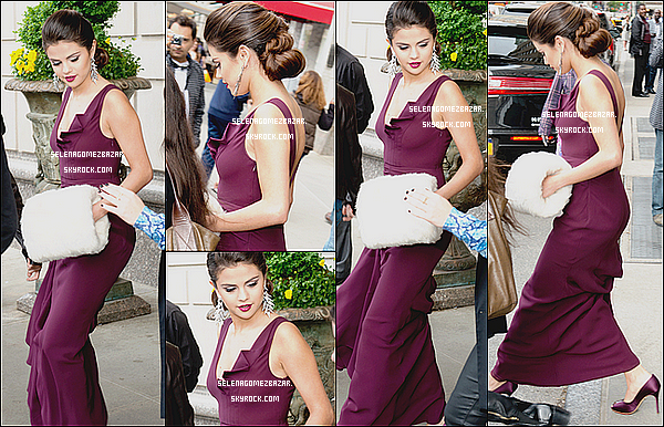 *05/05/14. Selena sortant de son hôtel Ritz à NY. Ensuite Sel' présente au Charles James : Beyond Fashion met Gala 2014, à New York City. Top ou Flop ?