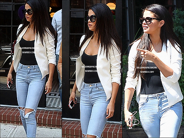 09/07/14. Selena quittant son hôtel à New York. Top ou Flop ?