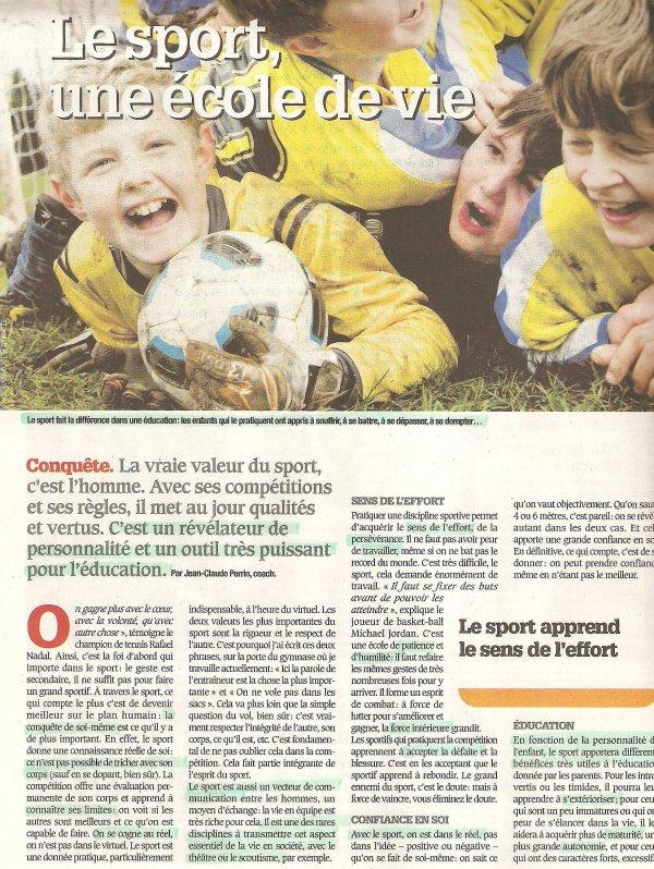 Le sport, une école de vie :