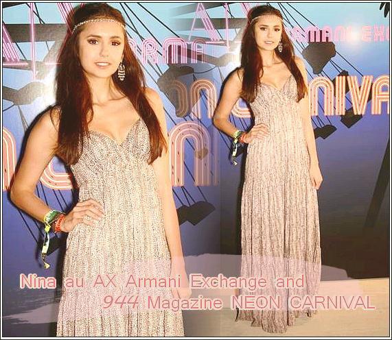 Le 21/04/2011: Nina au AX Armani Exchange and 944 Magazine NEON CARNIVAL du 16 avril , où elle était en compagnie de Ian  que l'ont ne voit pas sur ces photosmais sur les précédantes ! Tu aimes sa tenue ?