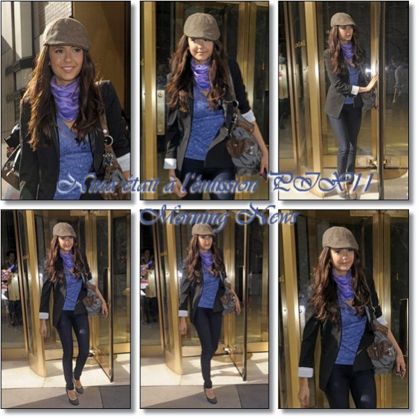 Le 28/04/2011: Mercredi 27, Nina était à l'émission PIX11 Morning News. Sachez que Nina est malade en ce moment, espérons qu'elle se rétablisse vite ! Alors TOP ou pas TOP sa tenue ?
