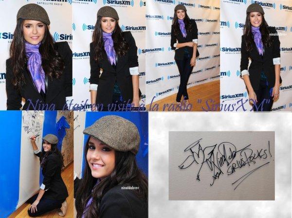 Le 29/04/2011: Nina a rendu visite à la radio SiriusXM ! TOP sa tenue n'aisse pas ?
