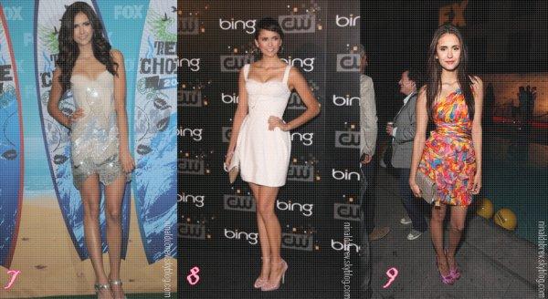 Alors quelle(s) tenue(s) que notre chère Nina a portée en 2011préférés-tu ?