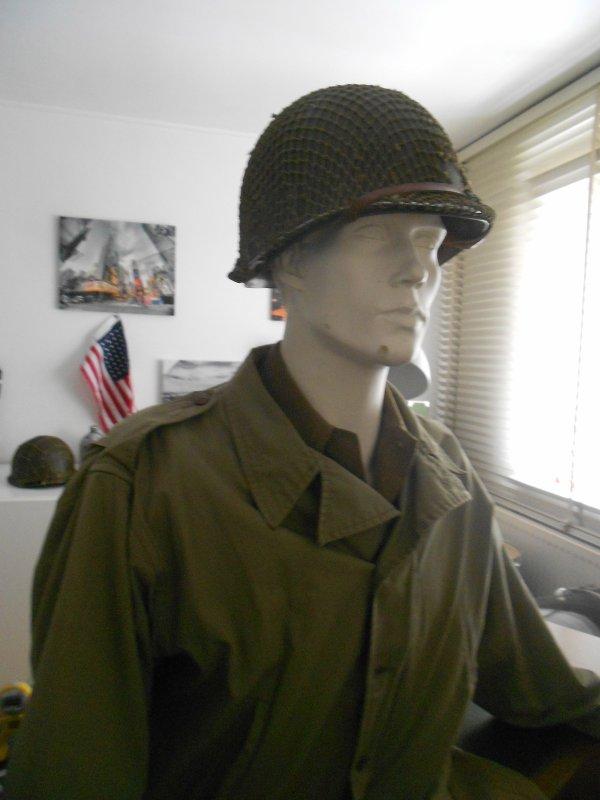 Buste infanterie avec casque m1
