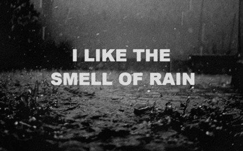 I like the smell of rain
