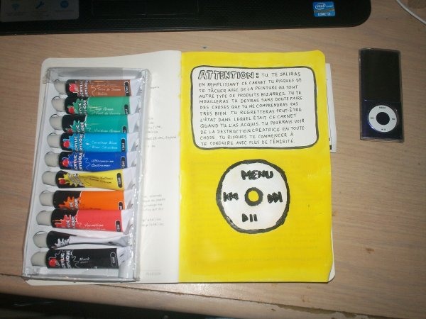 Saccage ce carnet (Wreck This Journal) Avancement [n°1]