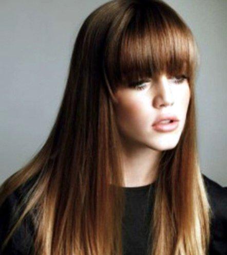 Straight Fringe Haircut Xka