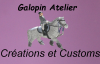 Merci d'aller regarder le blog de  custetcreasgalopin, elle fait des customs e tdes harnachements exeptionels!